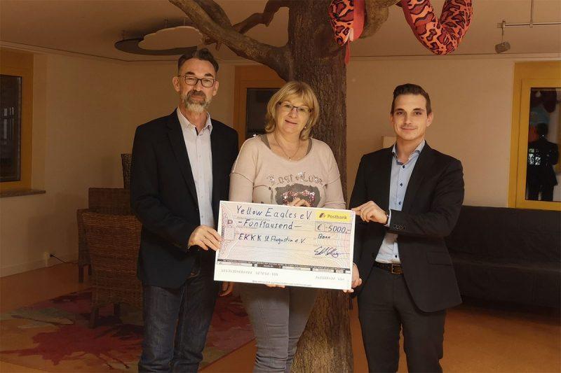 Spenden - die Yellow Eagles sind sozial engagiert